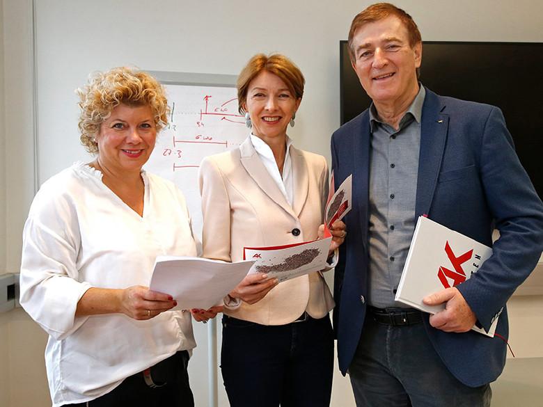 v.l.: Irene Hochstetter-Lackner, Gaby Schaunig, Günther Goach © Eggenberger